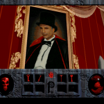 One of the dastardly bad guys who feature in Phantasmagoria is the mansion's original owner Carno.  He delights in doing magic tricks and killing his wives.