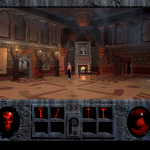 As you play Phantasmagoria, you explore a rambling, vast mansion.  This is the main foyer from which you have access to almost every part of the rest of the house.