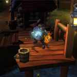 Torchlight can be a pretty frantic game, but at any point, you can pause the action.  The pause feature here is great, zooming into your character and lazily spinning the camera around him.
