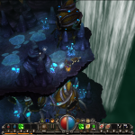 Torchlight's visual design is fantastic and colourful.  Here's a caverns-themed area.