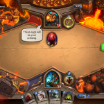 One of the subthemes for Blackrock Mountain is fire and it comes across most acutely in the new game board, featuring fun pieces from different raids.  And some molten lava, of course.