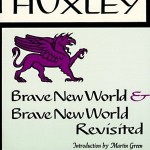 "There are many printings of the novel, some come with the additon of a Huxley-penned essay in which he ""looked into"" if the Brave New World had come to pass.  This particular pressing has a gryphon on the front cover, perhaps hinting at outmoded-ness."