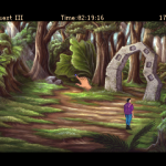 The AGDI team did expand the game a little.  This picture is a part of one of the new sections.  The slave boy Gwydion faces an arch that will kill him if he walks through.  He has to solve the riddle of the arch before he can find out what lies beyond.