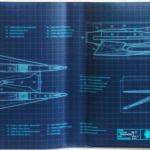 The inside jacket of Armada details what one of the drones might look like if it were real. It's really awesome.