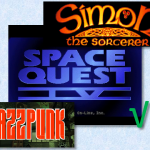 Jazzpunk is super fun and non serious. Simon the Sorcerer is a beautiful [though crass] point and click adventure I'm ready to re-experience. But not when I'm feeling this apathetic. Even the awful arcade sequences in Space Quest 4 were better than trying to steer my way around these two games.